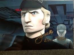 Derek as the Evil Empire's chief bad guy, Admiral Brom Titus in Star Wars Rebels
